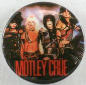 Motley Crue - 'Group Black' Button Badge